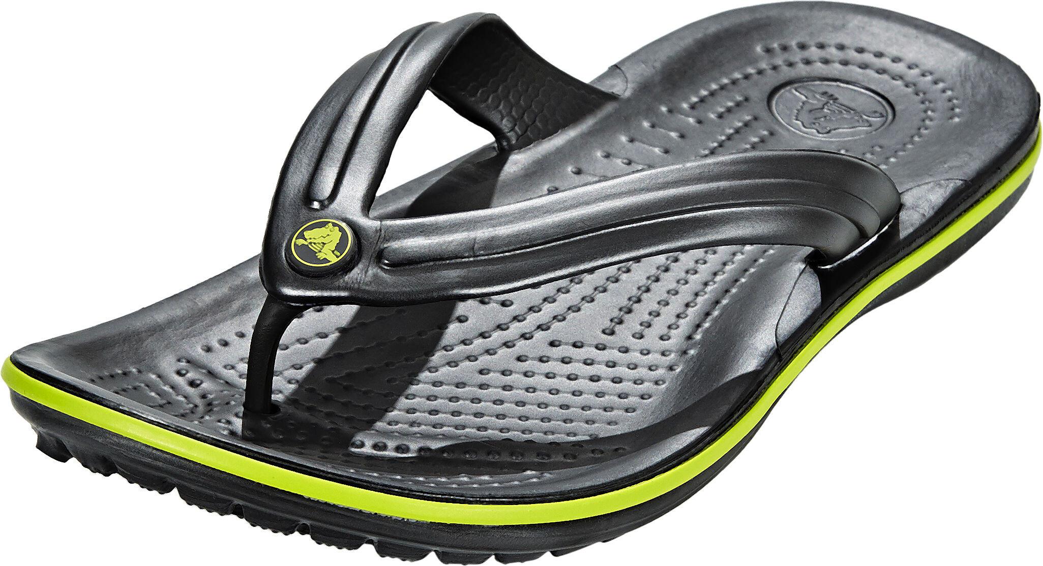 27f905636a12 Crocs Crocband Flip Sandals Unisex graphite volt green